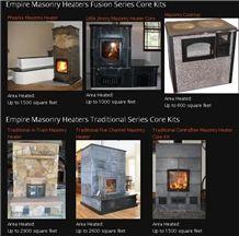 Empire Masonry Heaters, Grey Soapstone Masonry Heaters