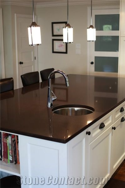 Ceasarstone Chocolate Quartz Stone Countertop From Canada