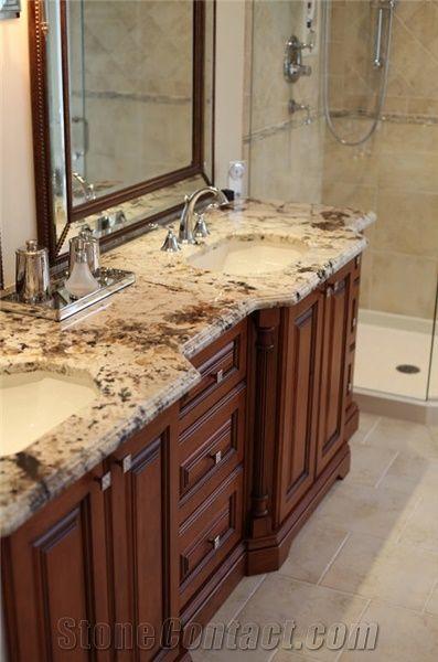 Delicatus Gold Granite Bathroom Top Delicatus Gold Yellow