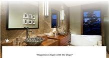 Emperador Marble Bathroom Wall Tiles, Emperador Medium Brown Marble Bath Design