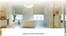 Rosa Bellissimo Marble Bathroom Design, Rosa Bellissimo White Marble Bathroom Design