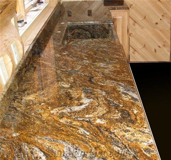 Magma Gold Granite Kitchen Countertop Magma Gold Yellow