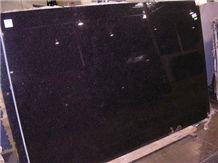 Opalescence Granite Slabs, India Black Granite
