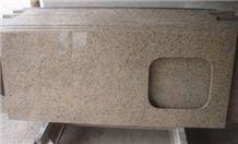 G687 Granite Kitchen Countertop, Peach Blossom Granite,China Red Granite Kitchen Countertops