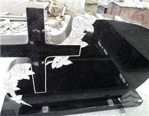 Black Galaxy Granite Monument,Cross Tombstone