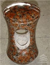 Maple Red Granite Urn, Granite Monument Acessary, China Red Granite