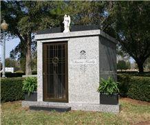 Family Estate Mausoleum, Georgia Grey Granite Mausoleum, Columbarium