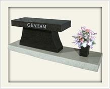 Memorial Benches, Granida Black Granite Memorial Bench