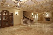 Warm Walnut Travertine Flooring, Turkey Beige Travertine