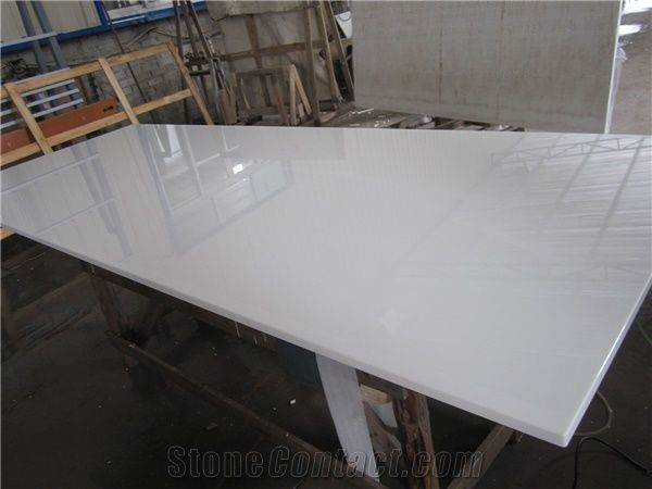 Pure White Artificial Marble Slabs From China