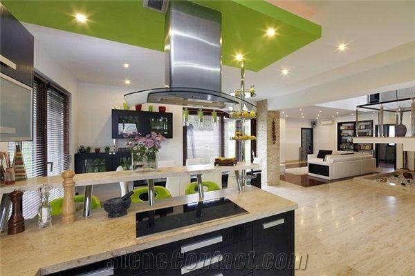 Jura Limestone Kitchen Countertop, Jura Beige Limestone Kitchen Countertops