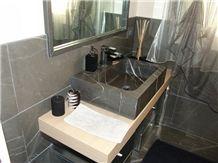Grigio Oriente Limestone Bathrrom Design, Grigio Oriente Grey Limestone Bath Design