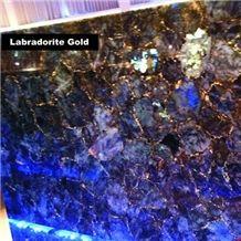 Labradorite Gold Gemstone Slabs