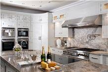 Blanco Lunar Quartzite Worktop, Luce Di Luna White Quartzite Kitchen Countertops