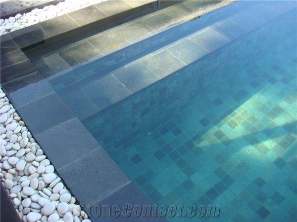 Sukabumi Green Quartzite Swimming Pool Floors From