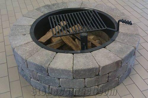 Pa Blue Stone Firepit Pennsylvania Grey Blue Stone Garden