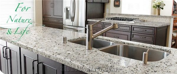 Crystal Pepper Granite Looking Quartz Stone Counte From