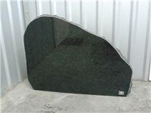 Karelia Gabbro Diabase Granite Tombstone, Gabbro Drugoreckoe Black Granite Tombstone