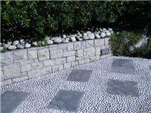 Beola Argentea Gneiss Pavement with Pebbles, Beola Argentea Favalle Grey Gneiss Pavement