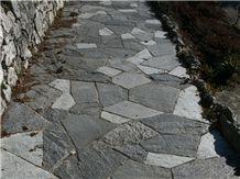 Beola Grigia Quartzite Flagstone Pavement, Beola Grigia Grey Quartzite Flagstone Paver