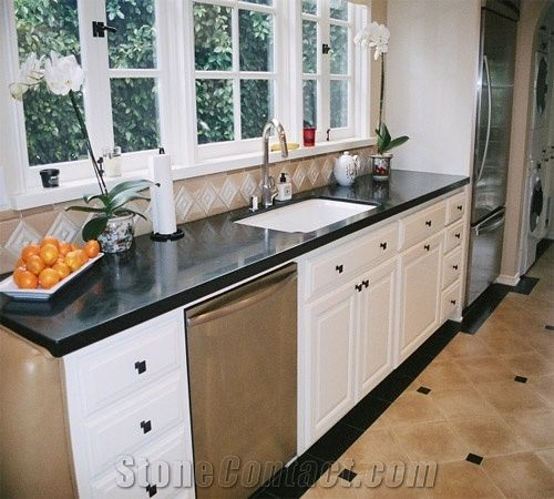 Zimbabwe Absolute Black Granite Countertop From United