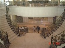 Cappucino Marble Stairs, Cappucino Beige Marble Stairs