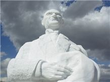 Ataturk Statue with Mugla White Marble