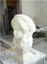 Odalisque Bust with Usak White Marble