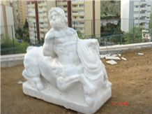 Pholos Sculpture with Mugla White Marble