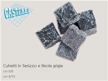 Beola Grigia Servezzo Quartzite Cube Stone, Beola Grigia Servezzo Grey Quartzite Cube Stone