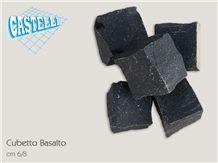 Cube Stone in Pietra Lavica Basalt, Pietra Lavica Black Basalt Cube Stone