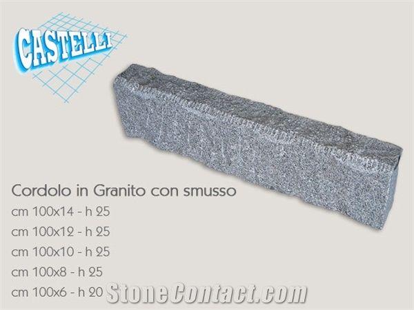 Granite Curb with Chamfer, Grigio Perla Grey Granite Curbs