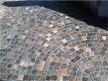 Porfido Grigio Pavement, Porfido Grigio Di Meltina Grey Granite Pavement
