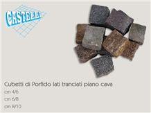 Porfido Viola Di Predazzo Cubic Stone, Porfido Viola Di Predazzo Lilac Granite Cobble, Pavers
