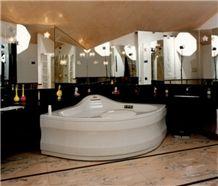 Rosa Candoglia Marble Bathroom Design, Rosa Candoglia Pink Marble Bathroom Design