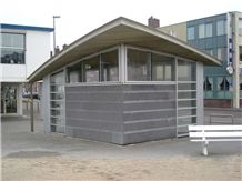 Kiosk Project with Belgian Blue Stone, Vinalmont Meuse Grey Blue Stone Building, Walling