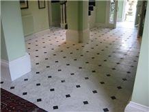 Bianco Piastra Bagnata Marble Floor Pattern, Italy White Marble