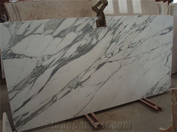 Statuario Arabescato Venato Marble Slabs Italy White