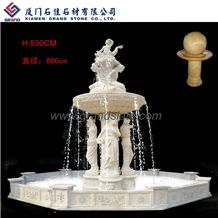 Marble Stone Fountains, White Marble Fountains and Sculptured Floating Ball Fountains