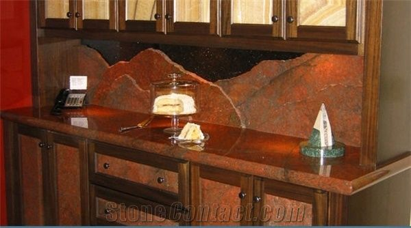 Red Dragon Granite Desk Top Dragon Red Granite Kitchen