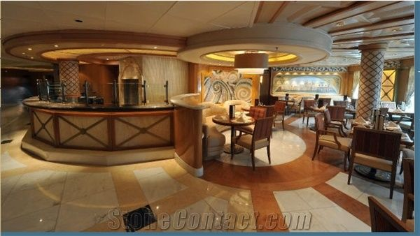 Restaurant Sevice Countertop Marble Floor Pattern From