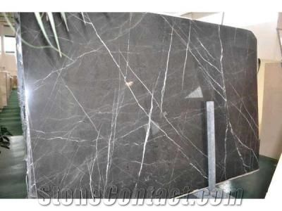 Graphite Pietra Gray Marble Slabs Iran Grey Marble From