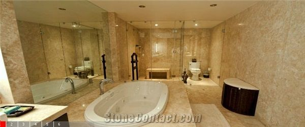 Durango Dorado Travertine Bathroom