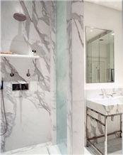 Calacatta Borghini Marble Bathroom Design, Calacatta Borghini White Marble Bathroom Design