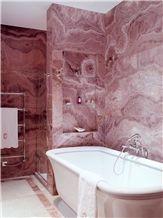 Caramel Onyx and White Onyx Bathroom Design, Caramel Brown Onyx Bathroom Design