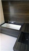 Eramosa Limestone Al Verso Bathroom Design, Eramosa Brown Limestone Bathroom Design