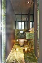 Irish Green Marble Bathroom Design, Connemara Green Marble Bathroom Design