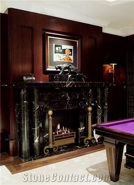 Noir St Laurent Marble Fireplace Nero St Laurent Black Marble