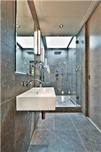Nordic Grey Marble Bathroom Design