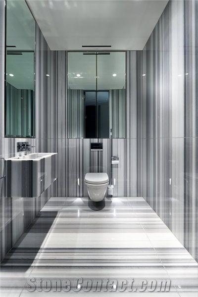 Exceptionnel Striato Olimpico Marble Bathroom Design, Striato Olimpico Grey Marble  Bathroom Design